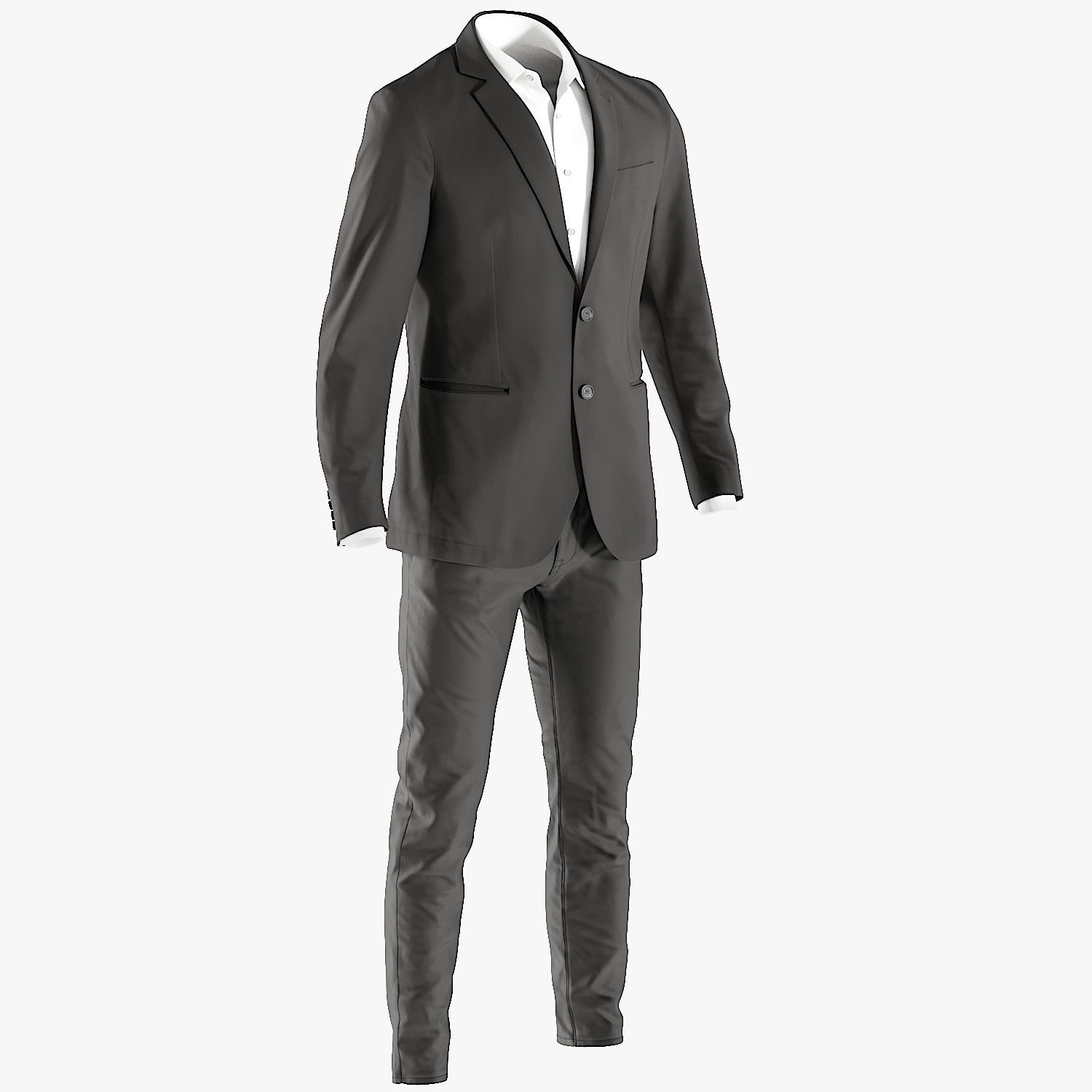 Mens Business Suit with Shirt 6