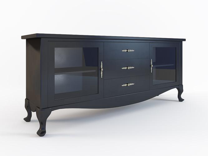 Czarna komoda, design, kod KG 20