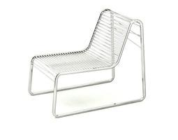 contemporary steel deckchair 3d model max obj