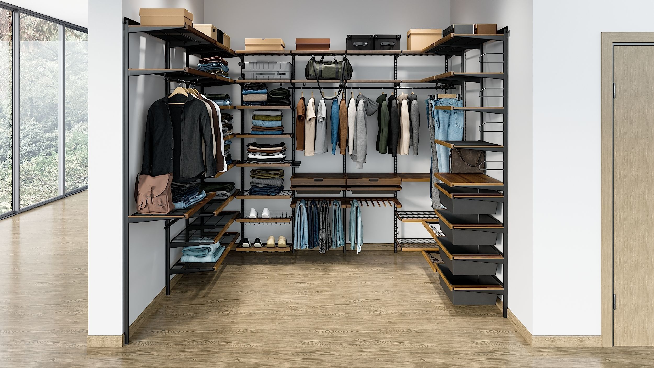 Wardrobe System With Clothing 1