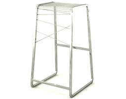 contemporary steel barstool 3d model max obj
