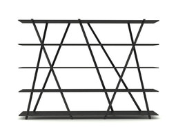 3D model Contemporary Steel Bookshelf