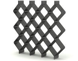 contemporary steel shelf 3d model max obj