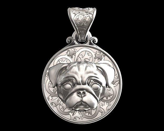 Dog Pug mops pendant