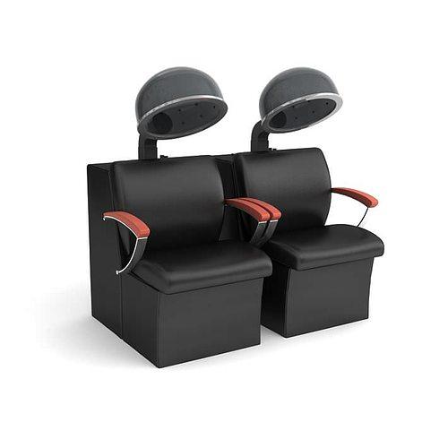 beauty parlour chair 3d model obj mtl 1