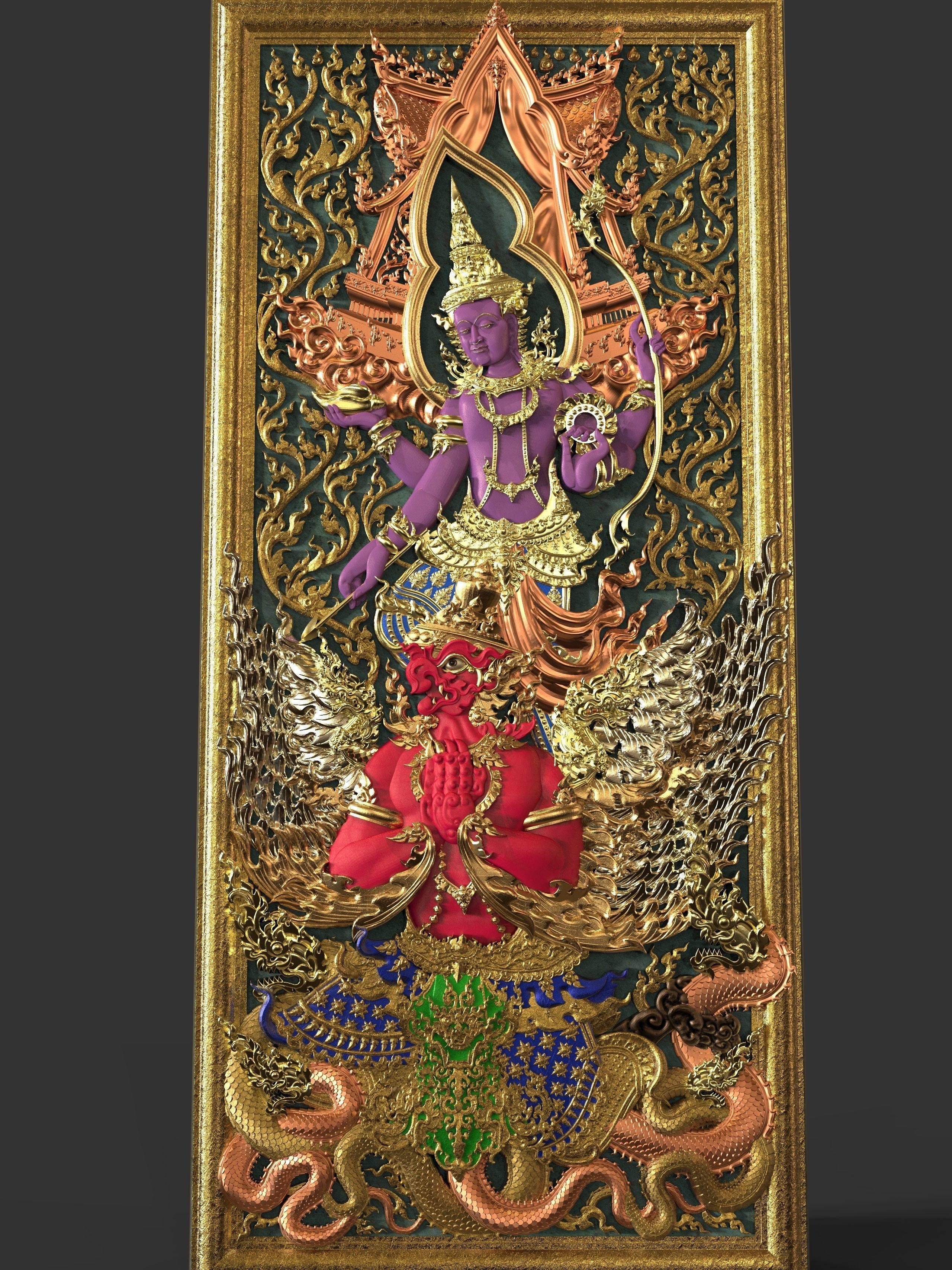 The Narayana affix Garuda In Door or Windows For CNC