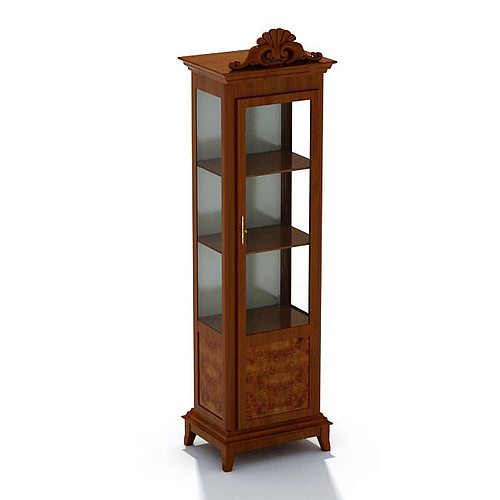 glass display cabinet wood and glass display cabinet 3d model cgtrader 15831