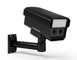 Black Plastic Security Camera 3D model