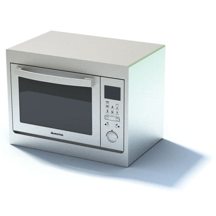 New white compact microwave oven 3d model - Microwave for small spaces image ...