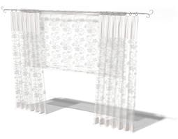 textured curtain  privacy and breeze 3d model