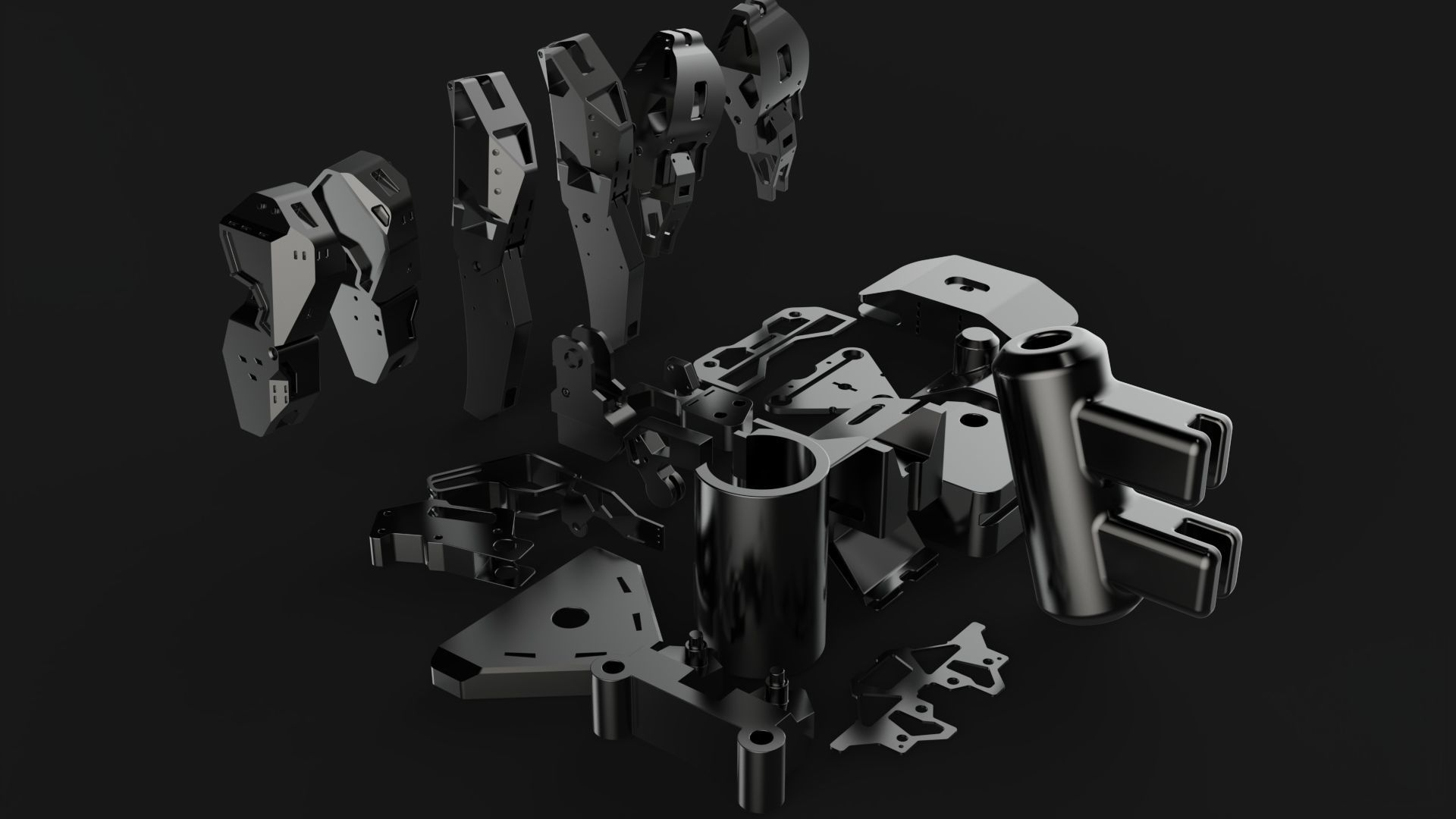robotic part and legs
