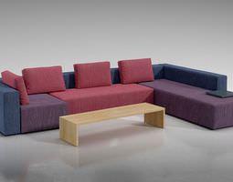3d multi color modular sofa