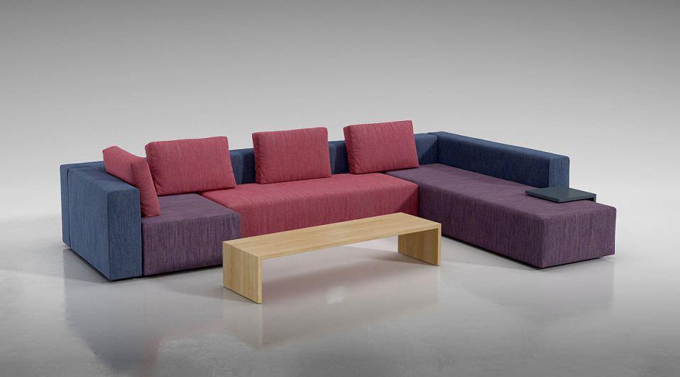 Multi Color Modular Sofa 3D Model