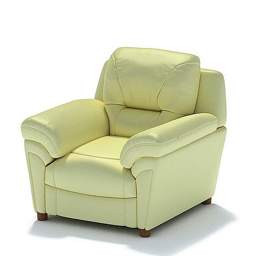 Cozy Yellow Armchair 3D | CGTrader