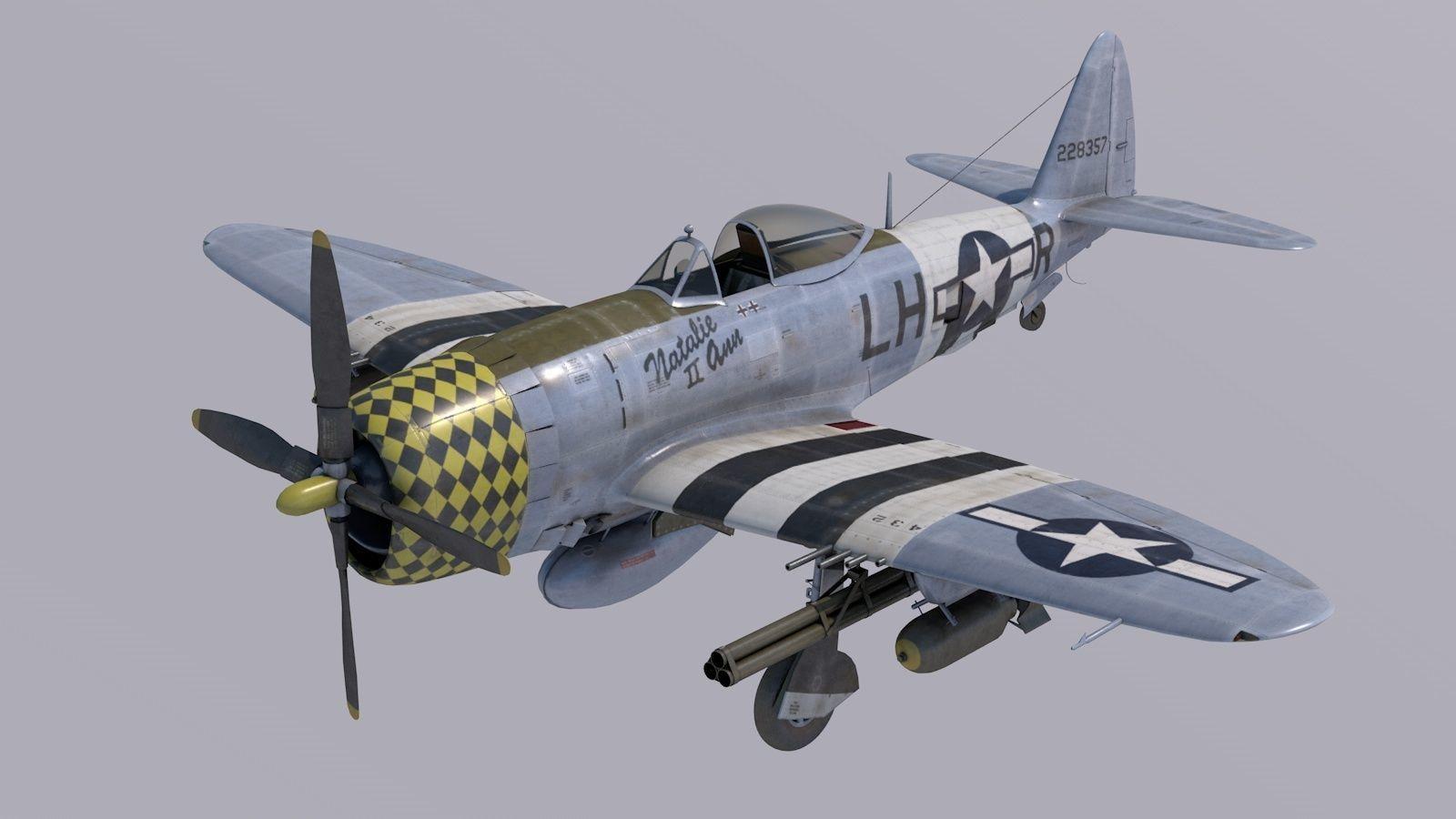 Republic P-47D Thuderbolt  Natalie Ann 2