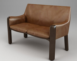 Photorealistic Upholstered Bench 3D model