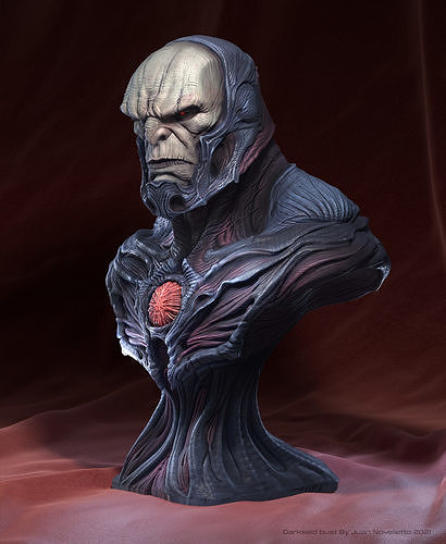 Darkseid bust Number 2 Ready for printing