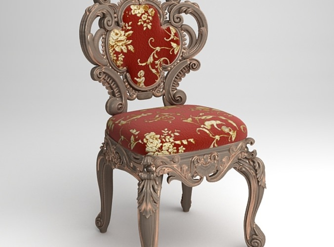 Cornelio Cappellini Baroque Side Chair3D model