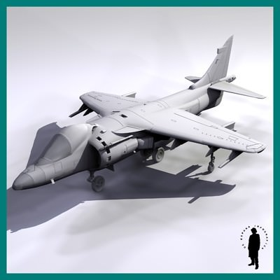 HARRIER AV-813 AIRCRAFT 3D Model .max