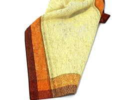 3d model cream cotton towel with two color border