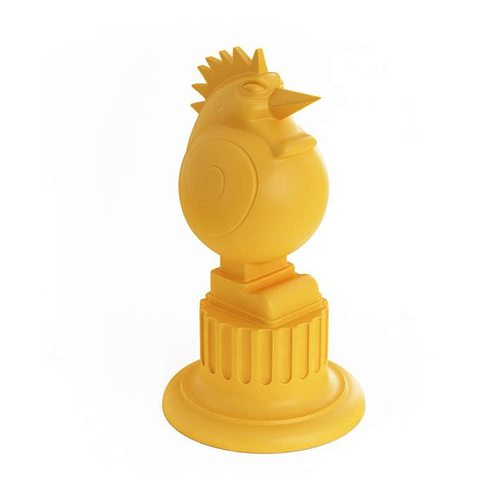 yellow chicken trophy 3d model obj 1
