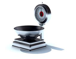 3D Silver Black Weighing Machine
