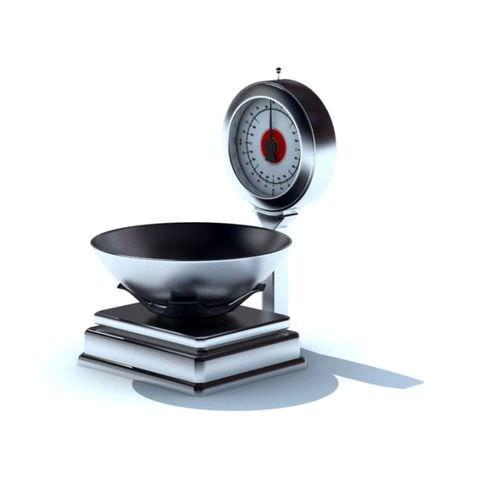 Silver Black Weighing Machine3D model