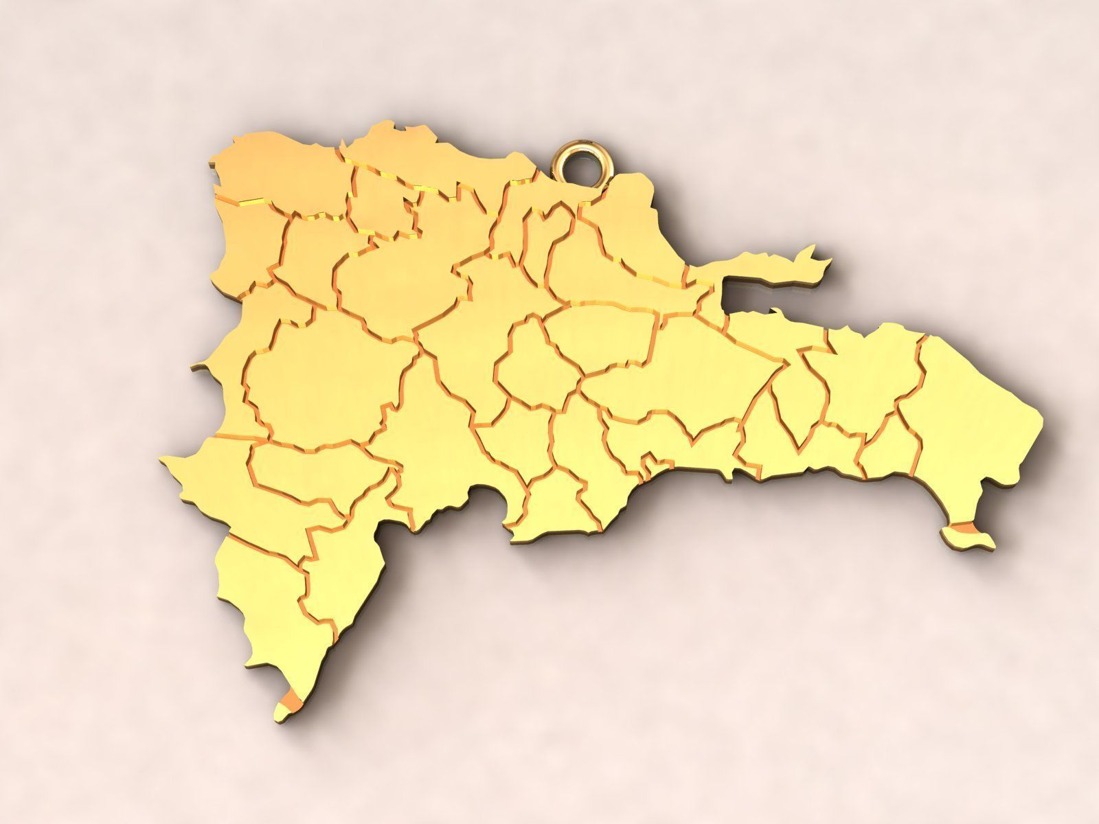 Dominican Republic Map Charm Pendant