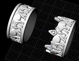 Ring Elephant 3D print model africa