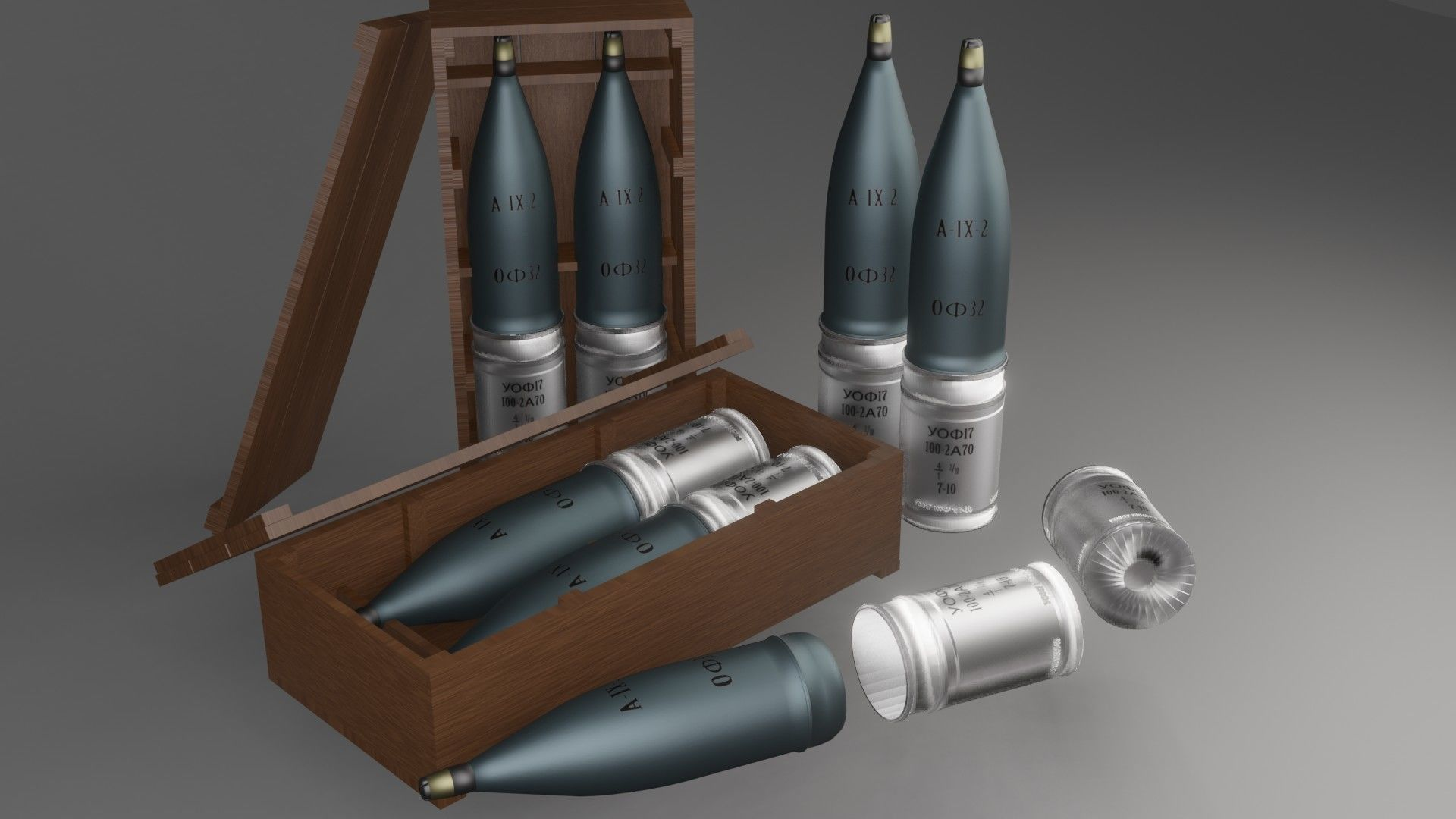 Tank shell collection