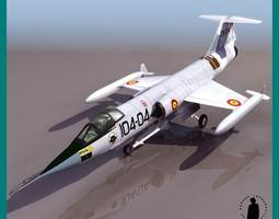 F-104 G-S AIRCRAFT 3D Model