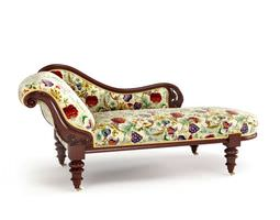 3d colorful antique sofa
