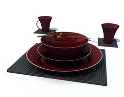 3D Kitchen Accessories Cups Dishes