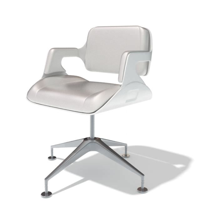 Modern white office chair 3d model for Modern white office chair