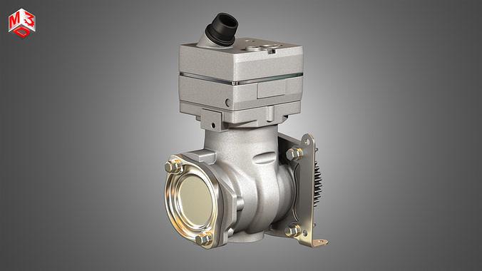Air Brake Compressor - One Piston - DD5 Diesel Engine