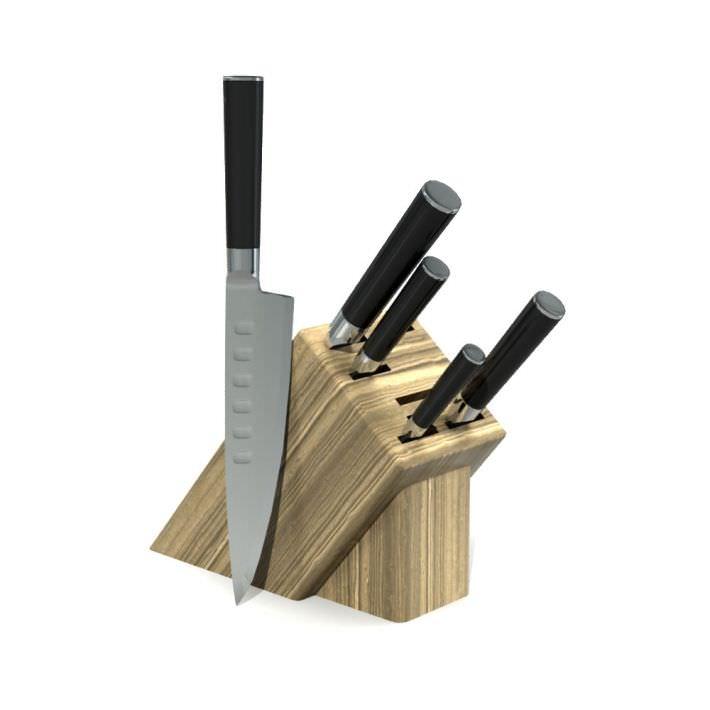 Kitchen Gadget Knife Rack 3d Model Obj 1