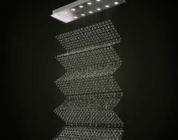 3D model Modern Lamp With Hanging Bubbles