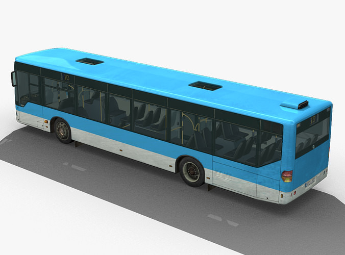 City Bus Mercedes Citaro Textured on Furniture Made From Car Parts