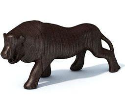 3D model African Statuette Of A Lion