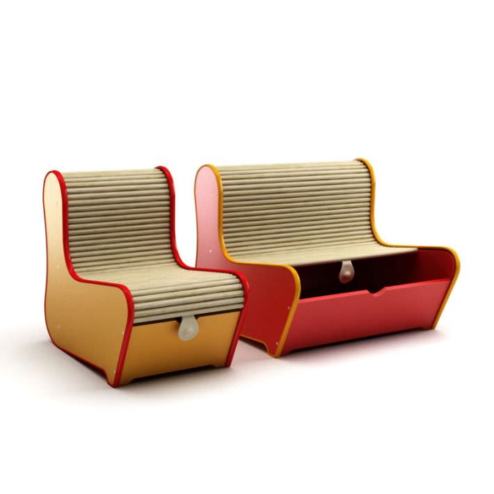 Two In One Sofa And Storage Unit 3d Model Cgtrader