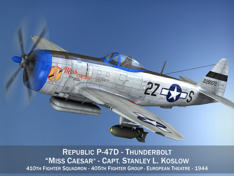 Republic P-47D Thunderbolt - Miss Caesar