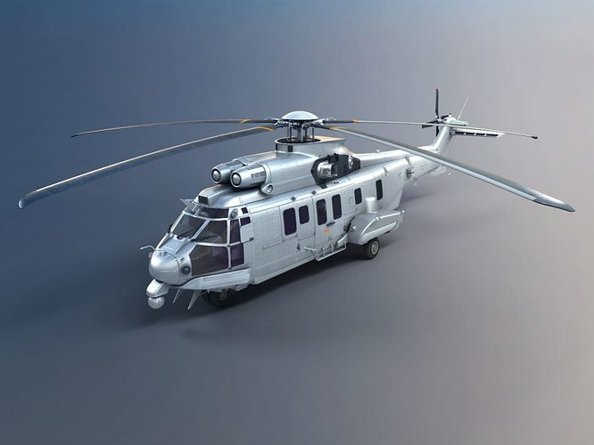 army helicopter 3d model obj mtl 1