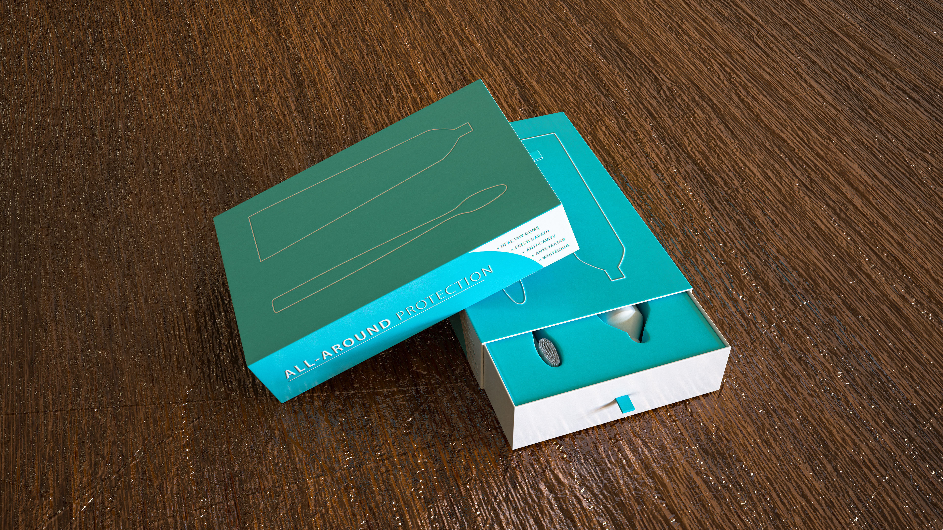 packaging box Toothbrush Toothpaste