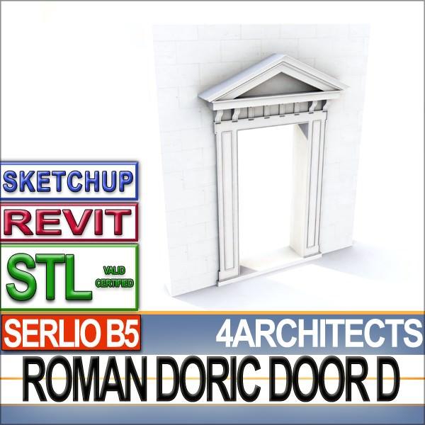 Renaissance Doric Door D Revit STL Printable