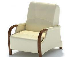 white armchair 3d model