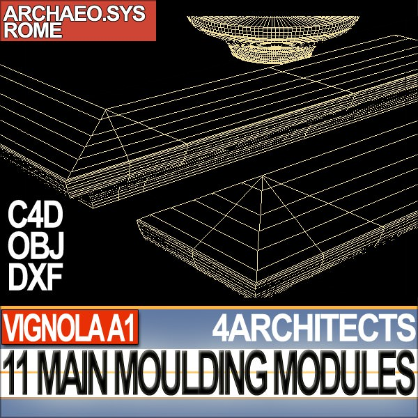80 architecture moulding modules collection revit stl for Architecture 3d vue 3d