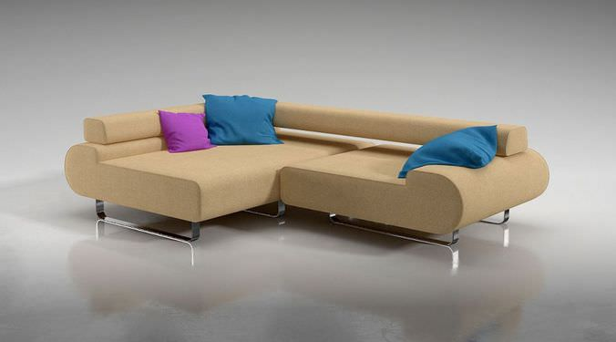 L Shaped Corner Sofa3D model