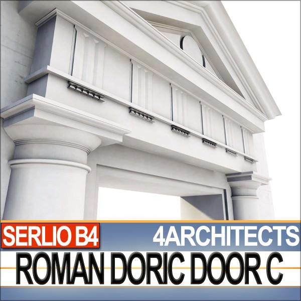 ... renaissance doric door c revit stl printable 3d model obj 3ds c4d dxf stl vue 2 ...  sc 1 st  CGTrader & Renaissance Doric Door C Revit STL Printable 3D model 3D printable ...