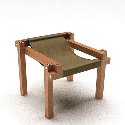 Modern wooden chair 3d model for Furniture 3d design