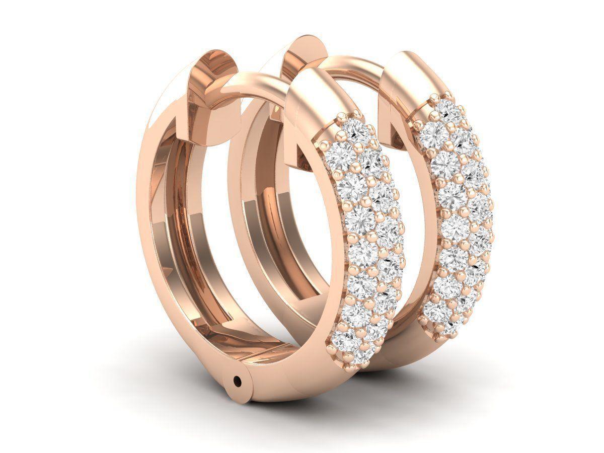 Diamond Huggies Hoop earrings for woman